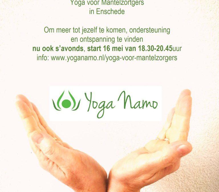 Yoga voor Mantelzorgers start op 15 mei van 13.30 – 15.45 uur