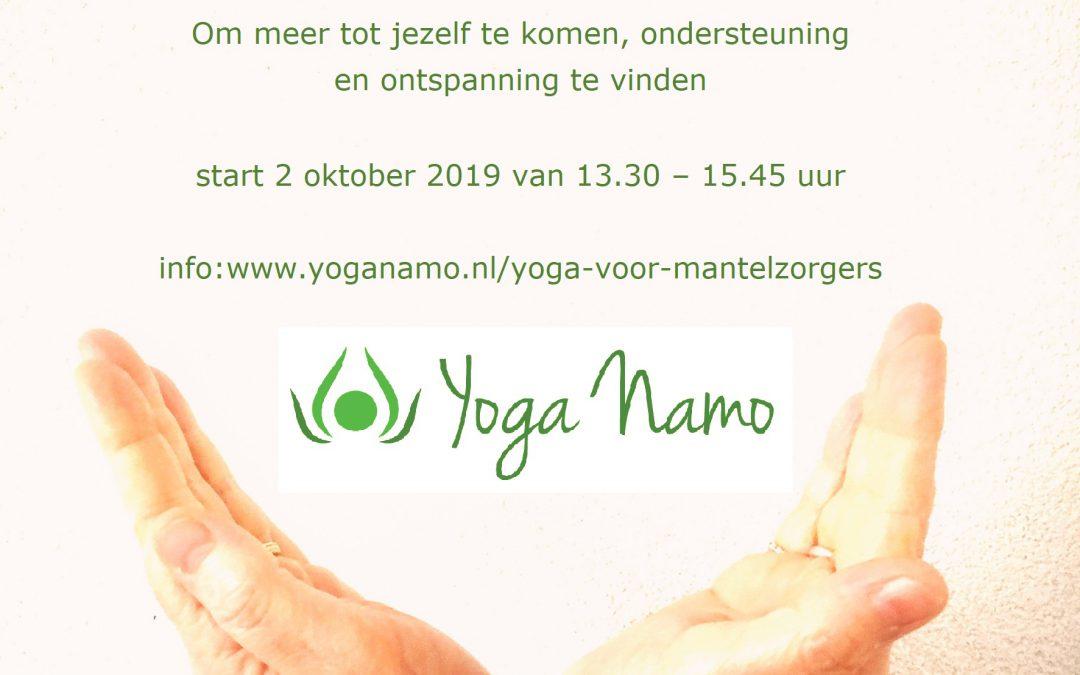 Yoga voor Mantelzorgers start op 2 oktober van 13.30 – 15.45 uur