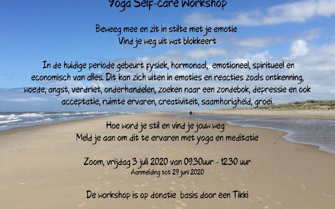 Yoga Self-care Workshop 3 juli 9.30-12.30 via Zoom