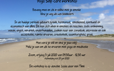 Yoga Self-care Workshop 3 juli 9.30-12.30 via Zoom