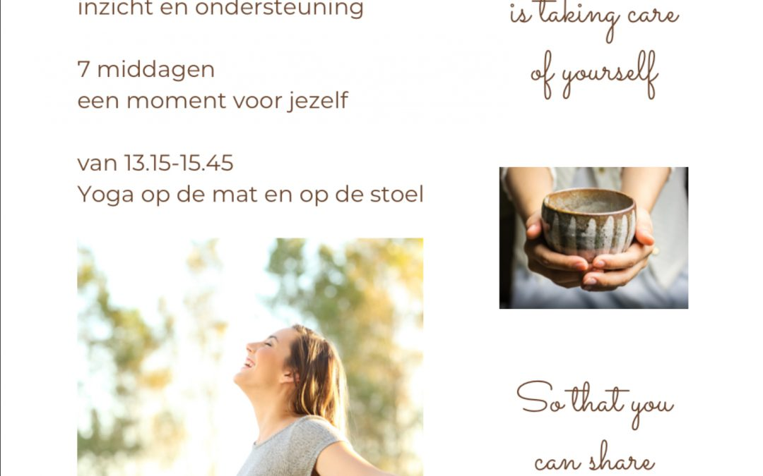 Self-care Yoga Programma start 21 oktober 2020
