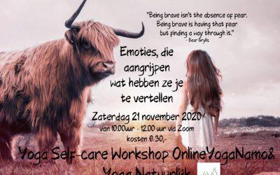 Yoga Self-care workshop 21 november 2020 10.00-12.00 via zoom