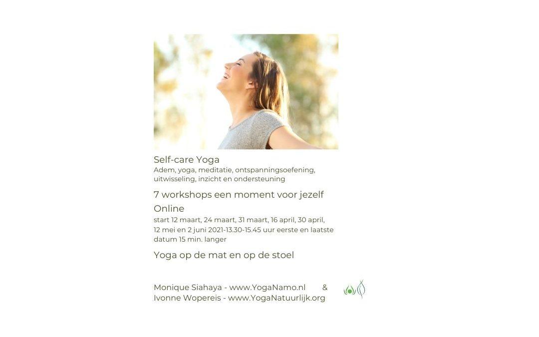 Self-care Yoga 7 Workshops Online via Zoom