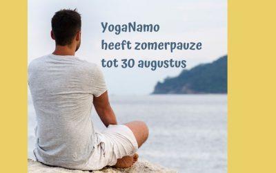 YogaNamo heeft zomerpauze